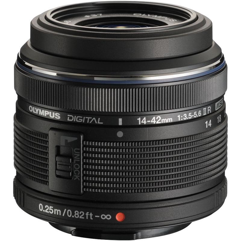 OLYMPUS M.ZUIKO DIGITAL 14-42mm F3.5-5.6 II R BLACK   Fcf Forniture Cine Foto