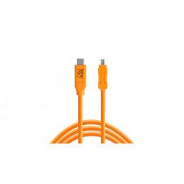 TETHERTOOLS CUC2615-ORG USB-C TO USB 2.0 MINI B 8 PIN 4.5mt | Fcf Forniture Cine Foto