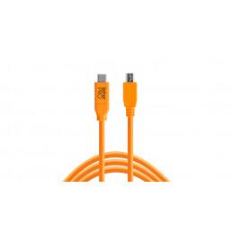 TETHERTOOLS CUC2415-ORG USB-C TO USB 2.0 MINI B 5 PIN 4.5mt | Fcf Forniture Cine Foto