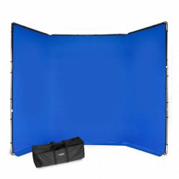 MANFROTTO MLBG4301KB KIT FONDALE CHROMA KEY FX 4x2.9m BLU | Fcf Forniture Cine Foto