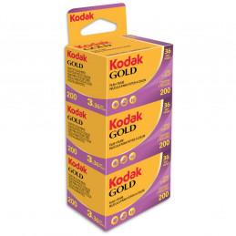 KODAK GOLD 200 135/36 200 ISO 3 RULLINI | Fcf Forniture Cine Foto
